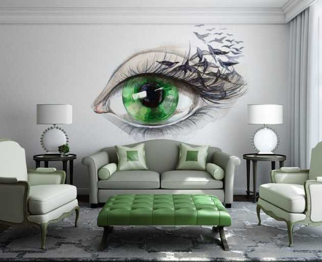 wall mural ideas for living room large clocks 15 refreshing your