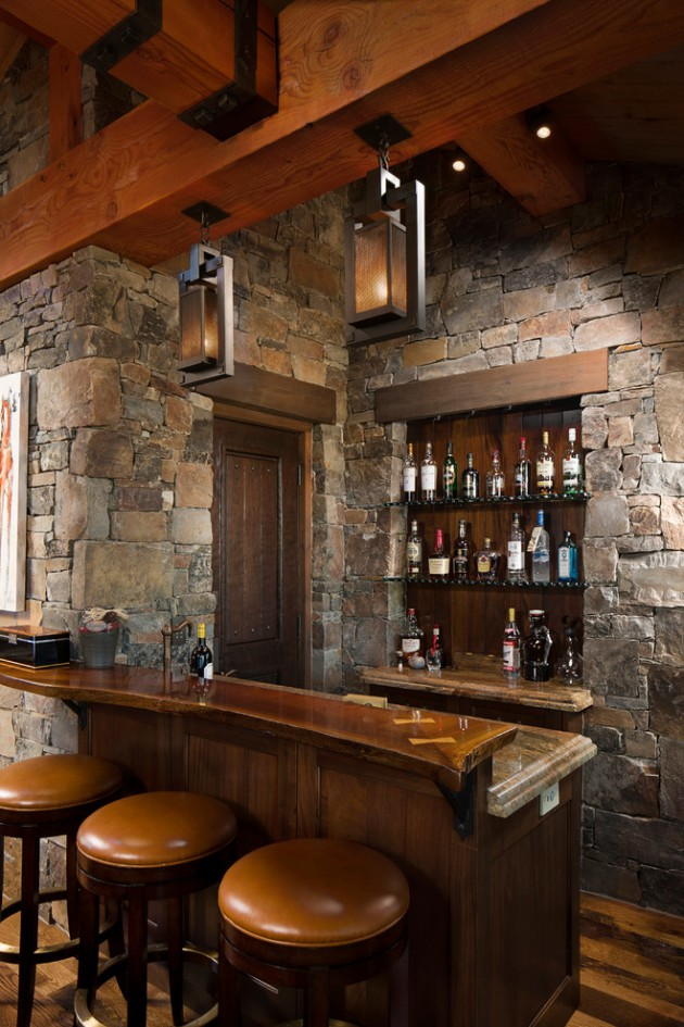 16 AweInspiring Rustic Home Bars For An Unforgettable Party