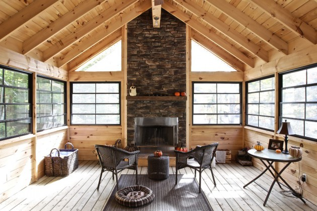 Screened Porch Ideas Fireplaces