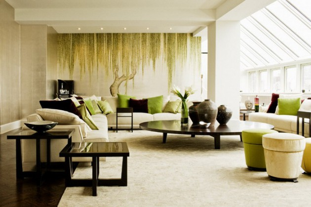 wall mural ideas for living room console tables mirrored 15 refreshing your