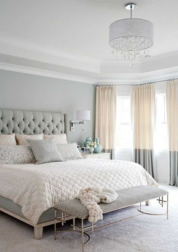 In a space populated by black and white decor—shades of grey included—black curtains are an excellent choice. 21 Pastel Blue Bedroom Design Ideas