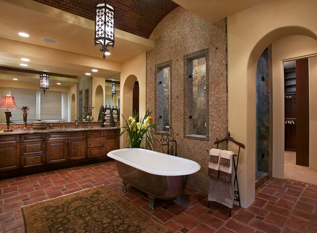 Faux Brick Wallpaper 3d 18 Exquisite Mediterranean Bathrooms That Will Show You
