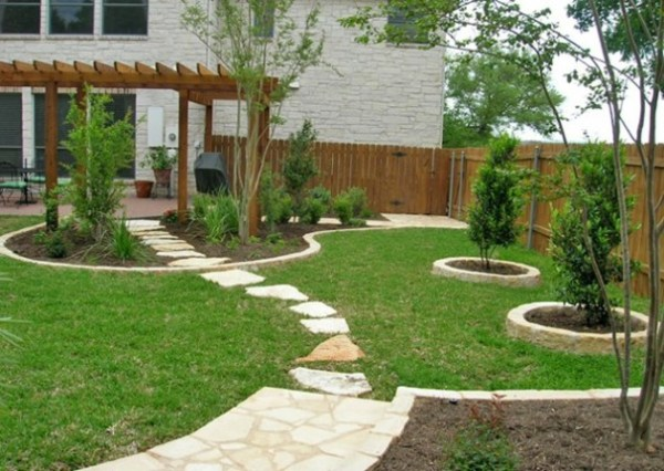 simple beautiful backyard