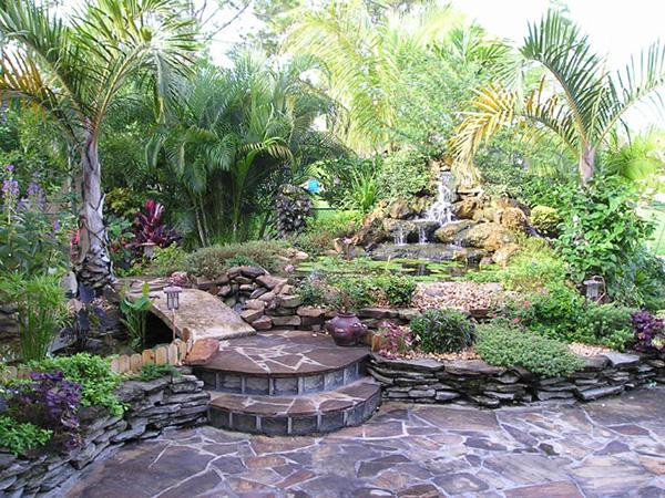 simple beautiful backyard