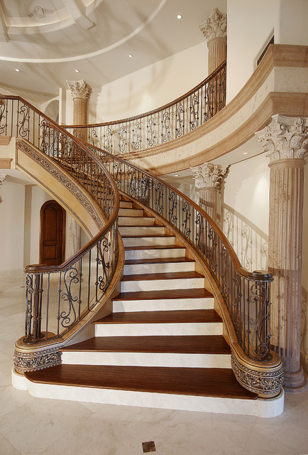 22 Stylish Mediterranean Staircase Designs To Spice Up