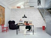 16 White Brick Wall Interior Designs To Enter Elegance In ...