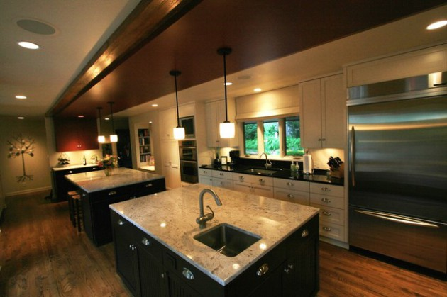18 Stunning Kitchen Designs With Double Kitchen Island