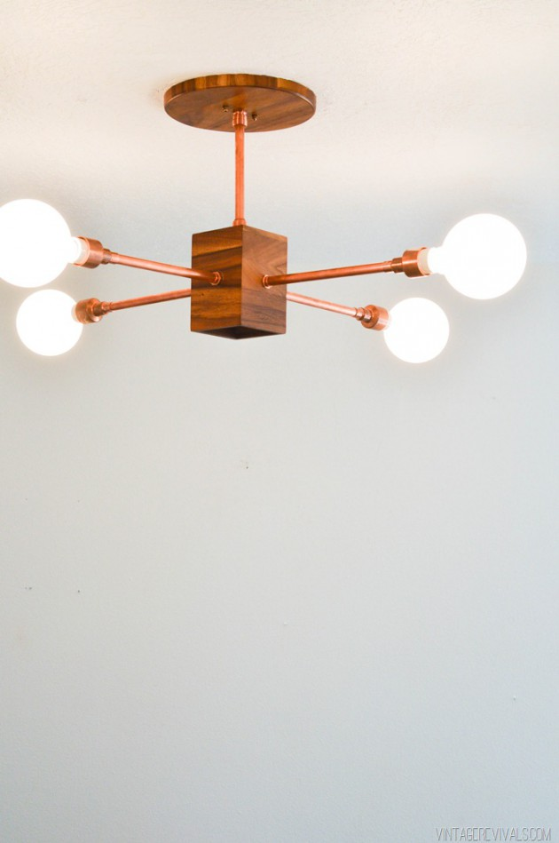 cool kitchen light fixtures white wood table 19 diy copper pipe projects to beautify your home