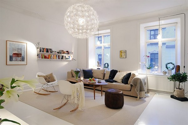 scandinavian living room design modern lights for 15 adorable small rooms with charm
