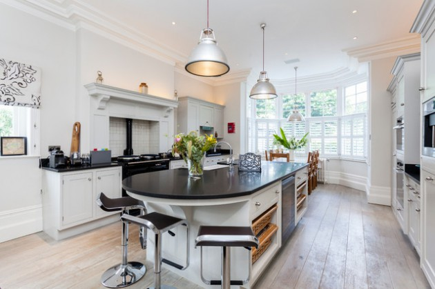 16 Divine Modern Kitchen Designs With Curved Kitchen Island