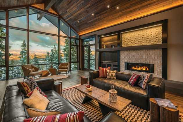 rustic contemporary living room designs colours for walls 2016 16 splendid ideas a warm and cozy feeling ski lodge