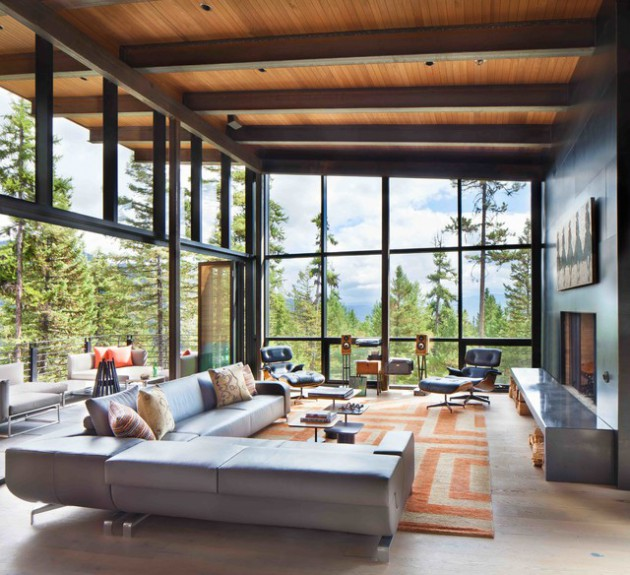 images of modern rustic living rooms country room paint colors 16 splendid ideas for a warm and cozy feeling mountain side nest