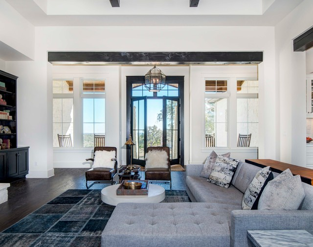 design living room with fireplace and tv best neutral paint colors for uk 15 elegant transitional designs you'll love ...
