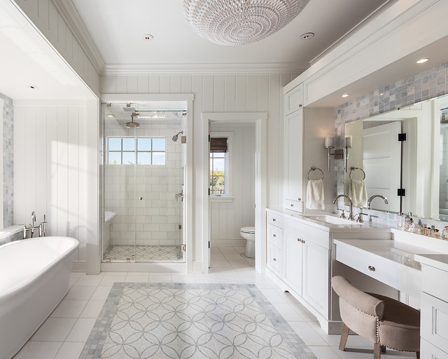 19 Unforgettable Transitional Bathroom Interiors For A