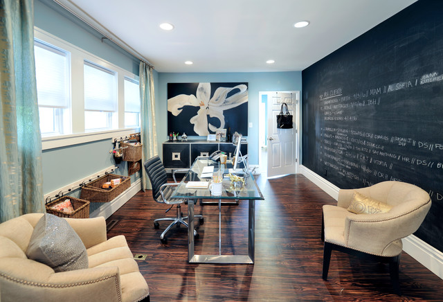 15 Elegant Transitional Home Office Designs To Motivate You