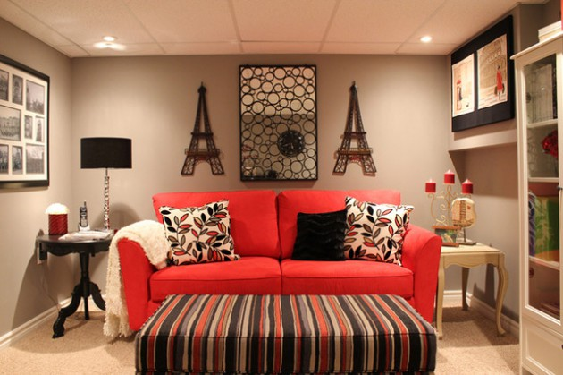 red couch living room photos framed wall pictures for ireland 17 stylish designs with couches