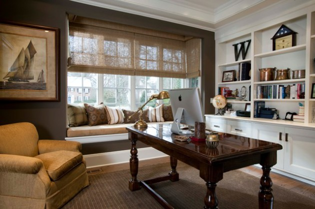 19 Charming Traditional Home Office Designs That Might