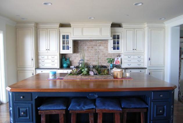 19 Charming Kitchen Designs With Brick Backsplash For