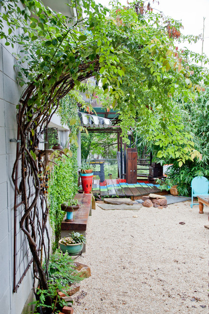 lively shabby chic garden design