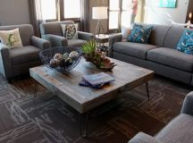 16 Gorgeous Living Rooms With Charming Wooden Coffee Tables