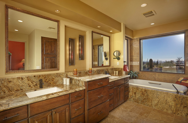 kitchen sink farmhouse tall cabinets 17 colorful southwestern bathroom designs to inspire you