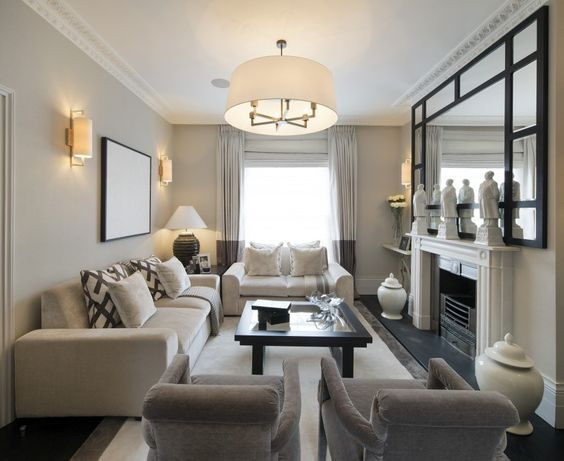 20 Stylish  Functional Solutions For Decorating Narrow Living Room