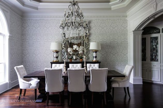 17 Fabulous Dining Room Designs With Modern Wallpaper
