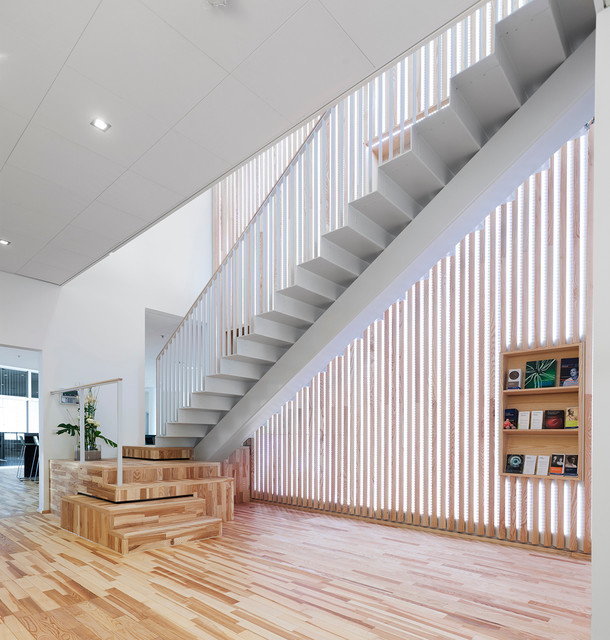 17 Uplifting Contemporary Stairway Designs Your Home Needs