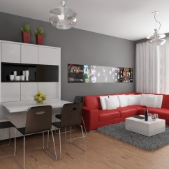 Living Room Ideas Grey And Red Large Framed Mirrors For 16 Gorgeous Rooms With Details