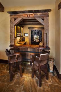 Seductive Mediterranean Home Bar Design Leisure In