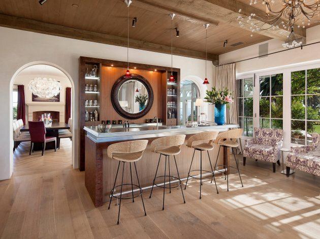 18 Seductive Mediterranean Home Bar Designs For Leisure In