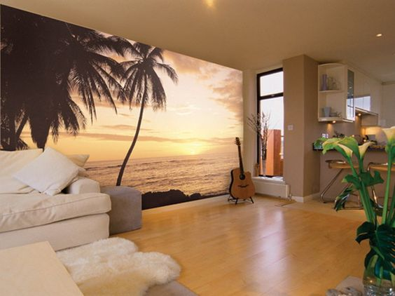 Fall Themed Wallpaper 10 Divine Tropical Wall Murals To Enter Summer In The Home
