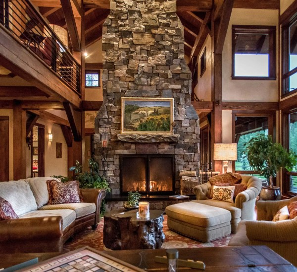 Sophisticated Rustic Living Room Design Turn