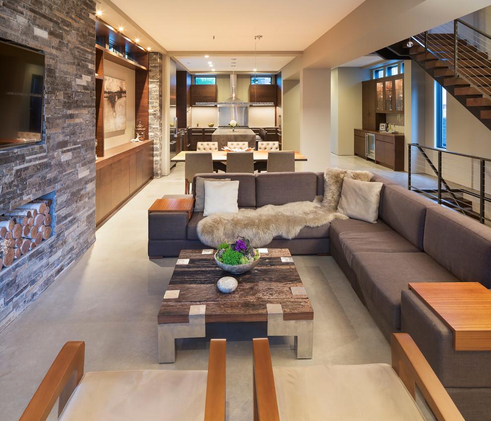 Modern Organic Home by John Kraemer  Sons in Minneapolis USA