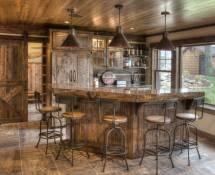 Rustic Home Bar Design Ideas