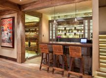 15 Distinguished Rustic Home Bar Designs For When You ...