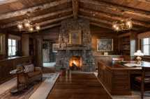 Motivational Rustic Home Office Design