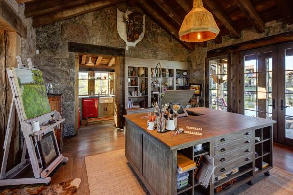 rustic home office design 15 Motivational Rustic Home Office Designs That Will