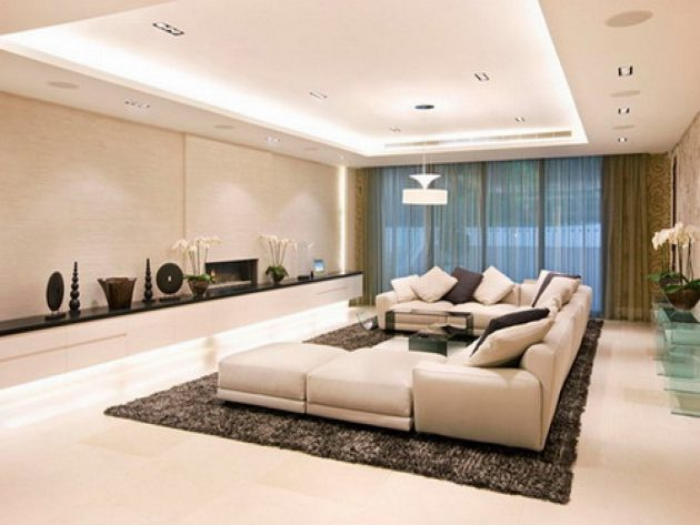 how to decorate a long living room decorating with brown leather sectional 17 magnificent ideas for large