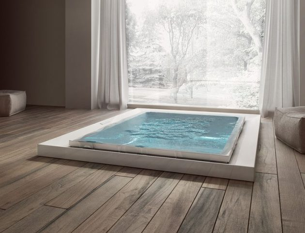 17 Breathtaking Bathrooms With Infinity Bathtubs That No