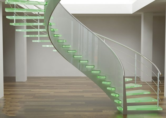 15 Stunning Glass Spiral Staircase Designs That You Shouldn T Miss | Spiral Staircase With Glass Railing | Exterior | In India Staircase | Stair Wood Bracket | Glass Insert | Inside Glass