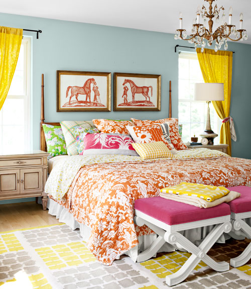 colorful bedroom designs 16 Cheerful Bedroom Designs With Colorful Details