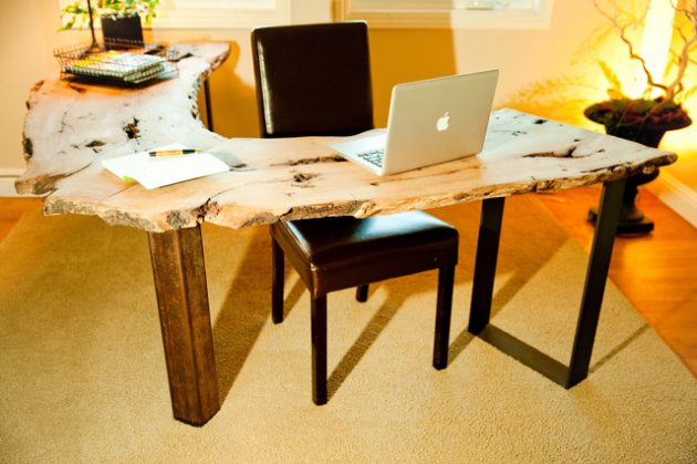 15 Original Home Office Designs With Unique LiveEdge Desk