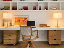 15 Inspirational Mid-Century Modern Home Office Designs