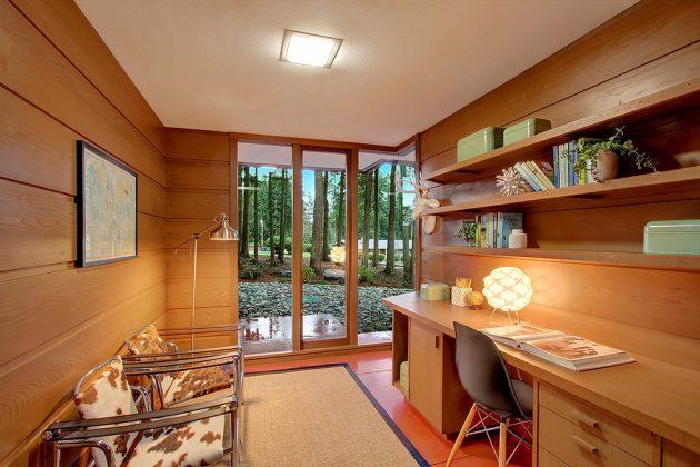 15 Inspirational MidCentury Modern Home Office Designs