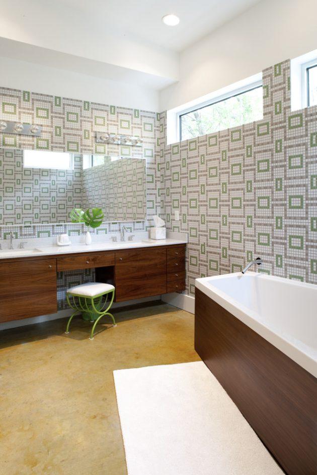 16 Inspirational MidCentury Modern Bathroom Designs