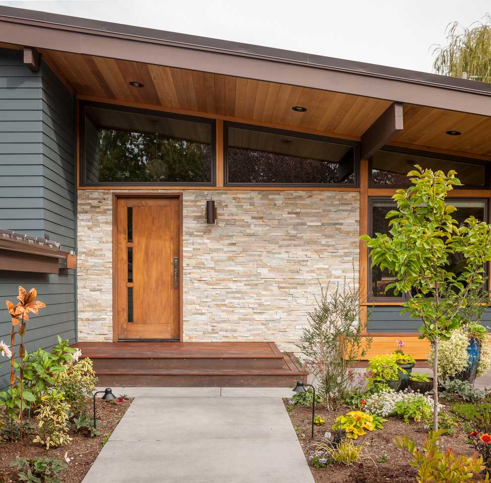 17 Captivating MidCentury Modern Entrance Designs That Simply Invite You Inside