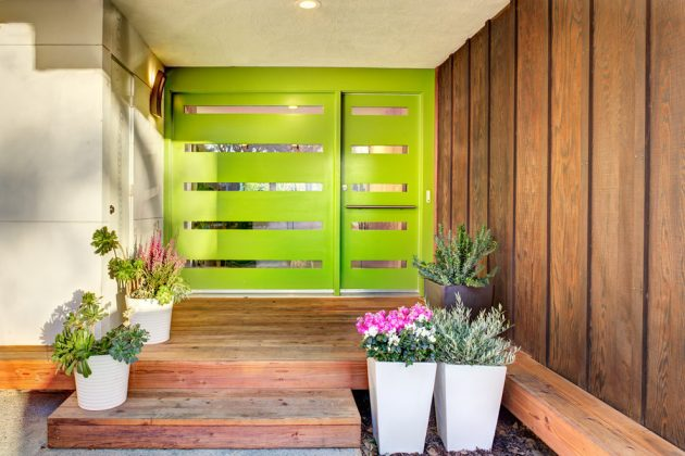 17 Captivating MidCentury Modern Entrance Designs That