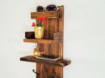 17 Practical Handmade Entryway Organizer Designs For Your ...