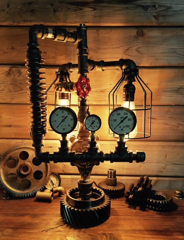17 Amazingly Creative Handmade Pipe Lamp Designs Youll
